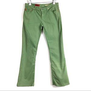 💎3/$25 AG ANGEL Boot Cut Green Stretch Pants